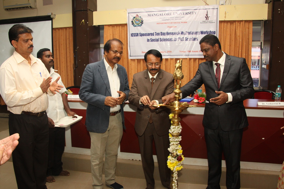 ICSSR Sponsored Ten Day Research Methodology Workshop in Social